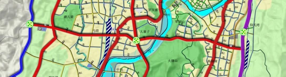 金南大道,金南大桥路线图 - 今日达州 - 凤凰山下 - .