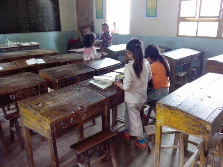 帮帮这里的小学--宣汉县小学乡文凤村桃花-情丰孩子前图片