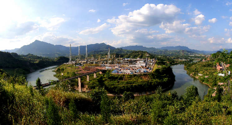 宣汉县南坝镇的川东北天然气项目正式投产