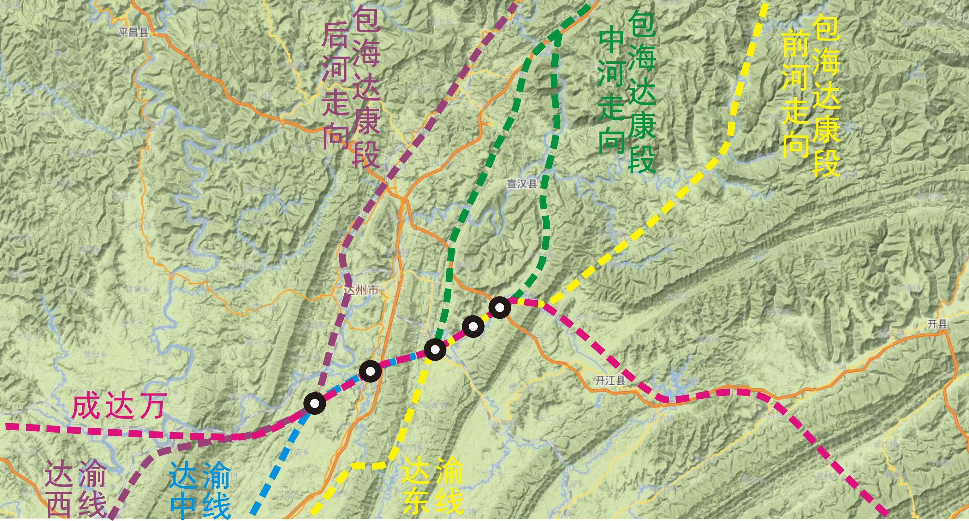 包海高铁缐路规划