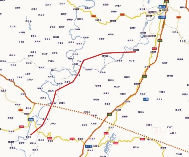 渠县地图高清版
