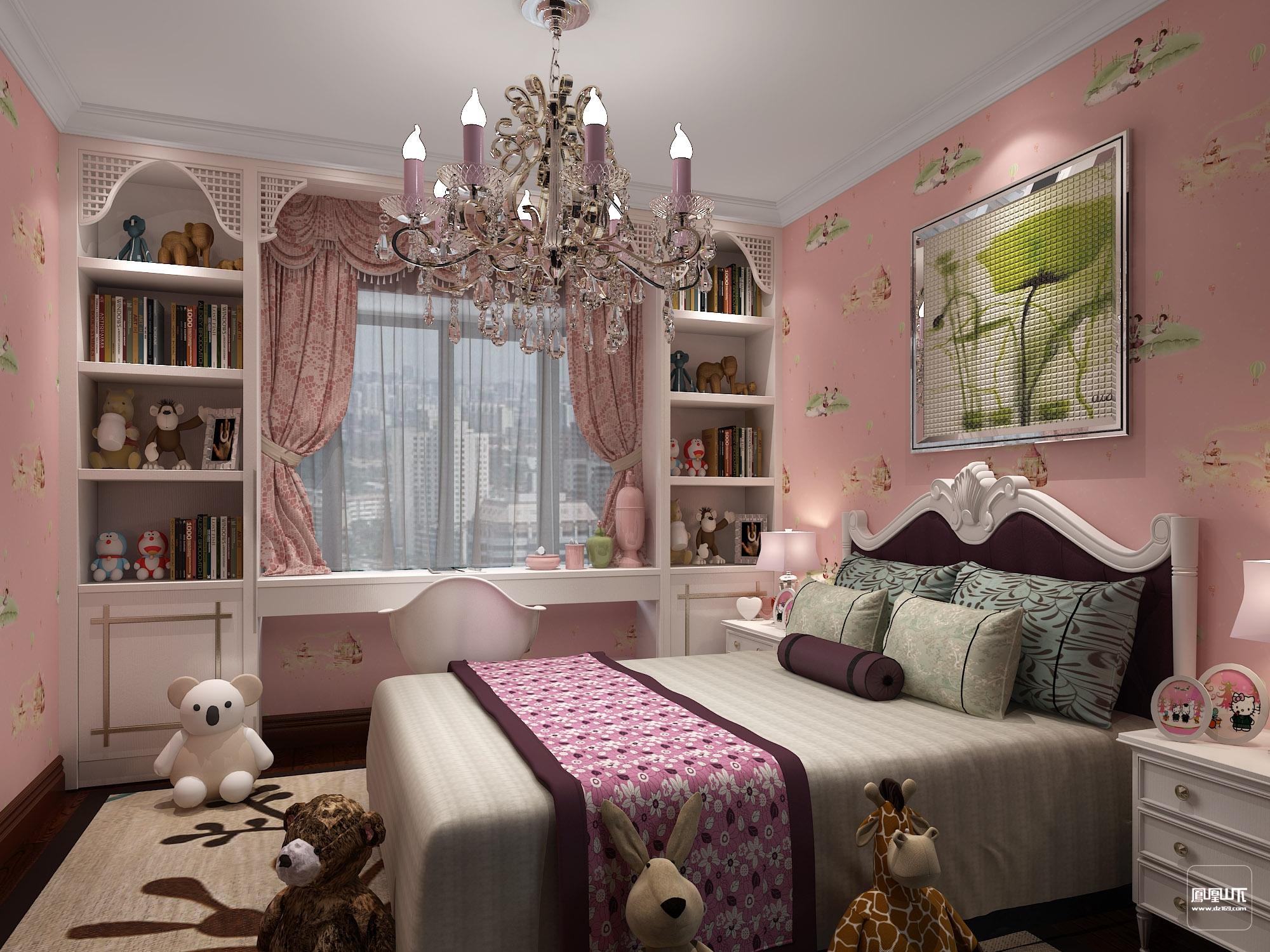女寶寶房間設計-兒童房設計圖片/女寶寶房間裝修風格/電視墻裝修效果