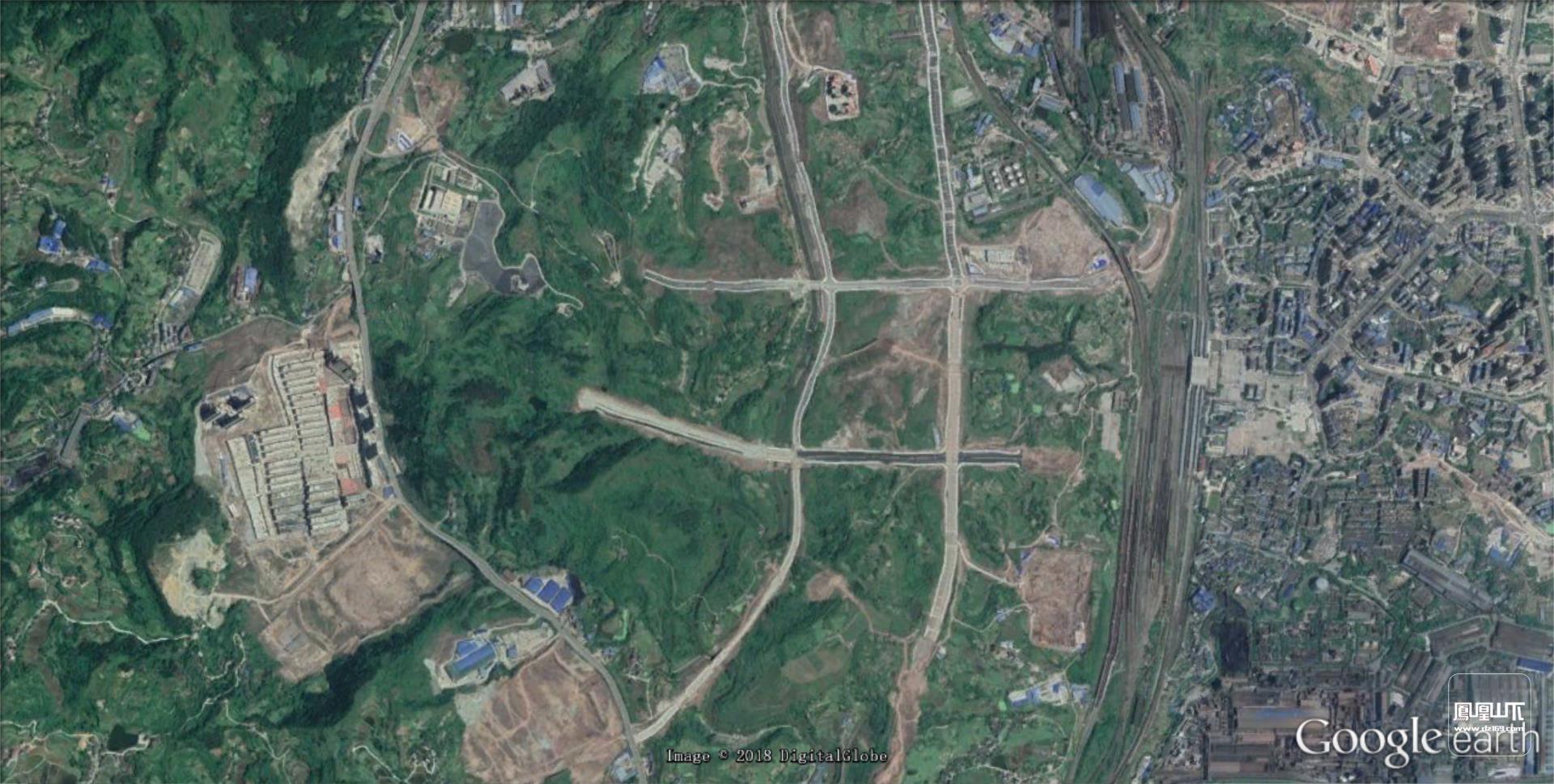 谷歌地球终于更新达州的卫星地图到2018年4月啦