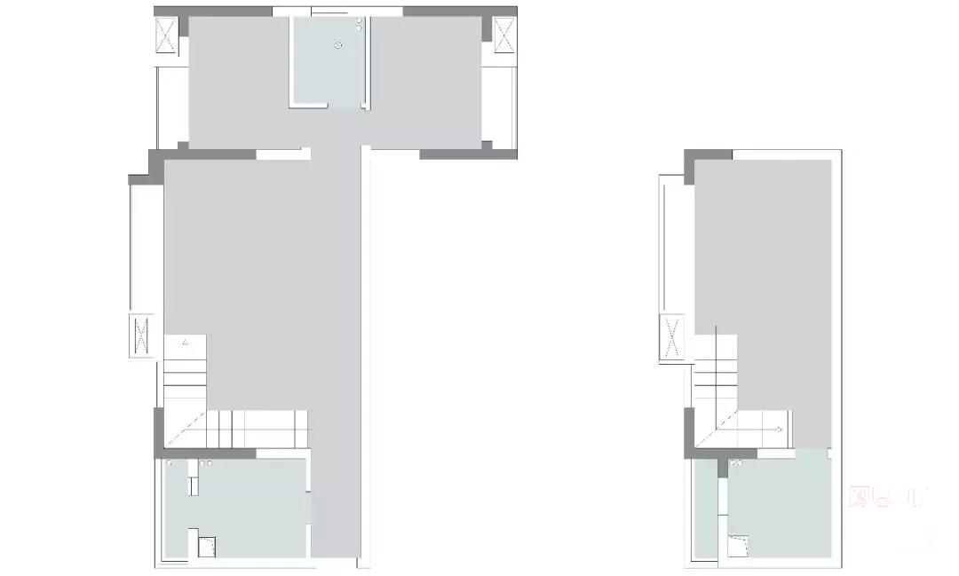 房屋面积:100 风格:温馨北欧风 房型:两居室外带一个多功能房 设计亮点: 1、整个房间的收纳设计很不错,玄关鞋柜,楼梯下的储物柜,衣柜,一应俱全。 2、纯白和木色几何,融入清新的绿,温暖的黄,喜庆的红,配色很有创意。 3、餐厅沿着墙面设计出长长的木质隔板,桌椅、端景架都是很精致的模样。 4、厨房花色地砖成为空间一大亮点,色彩丰富,创意十足,颇为吸晴。 原始结构图