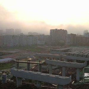 清晨 走进建设中的金南大道南外工地