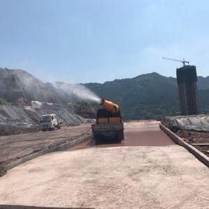 新型设备上岗 凤凰山隧道西延线一期工地扬尘降低