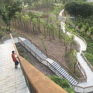 鹿鼎寨公园二期力争春节前完工