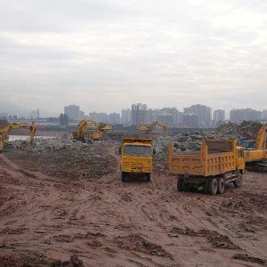 马踏洞新区建设又现往日火热建设场面