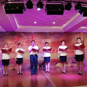 通川区西城西圣寺社区组织召开联谊文艺活动,共同欢度重阳节