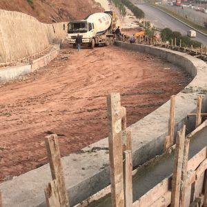 大寨子公园二期工程建设正在紧锣密鼓进行