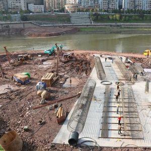 野茅溪大桥正在加快施工中(视频+高清图)