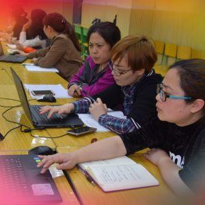 勤学习 提技能 促教学——通川四小青老教师结对研学信息化教学技术