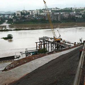 经开区领导调研中坝州河大桥及连接线建设工程