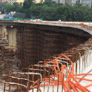 凤凰山山前路跨塔石路2号桥有望下月底投用