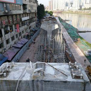 达城快速通道东段建设由东往西有序推进