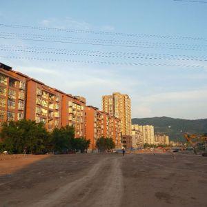 建设中的金南大道西延线一期