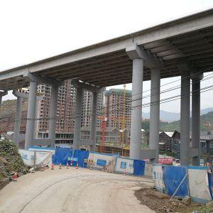 达城环城路上的这座桥将在年底前通车