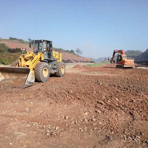 秦巴物流园区南北主干道即将进入水稳层施工
