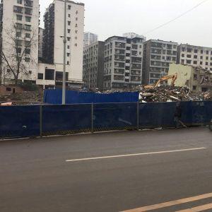 达州金南大道(华川家属院、省建段)拆房现场图片