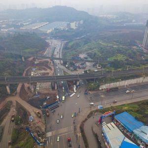 凤凰大道西沿线(襄渝铁路下穿段)实现半幅通车啦(图)