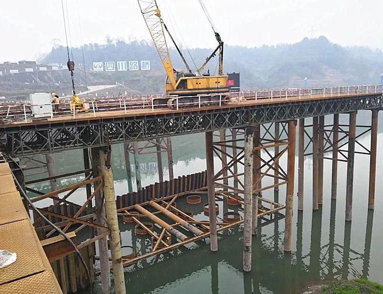 中坝州河大桥及连接线工程桩基施工即将完成