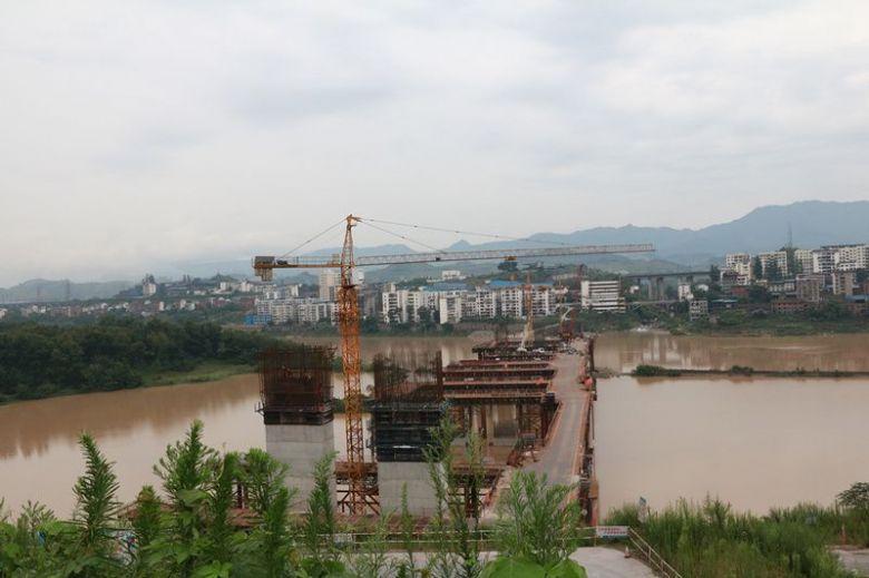 中坝州河大桥最新建设进度来啦!(视频+组图)