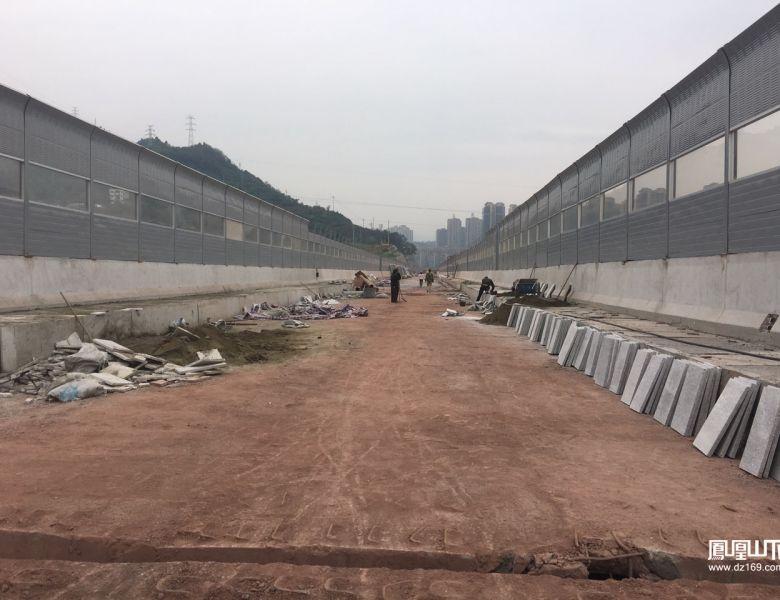 凤凰山山前路东段建设进入最后冲刺阶段