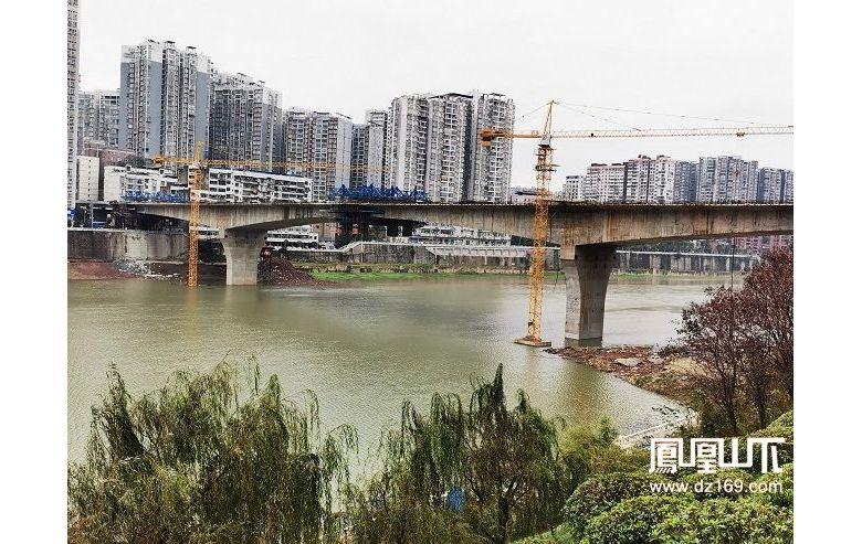野茅溪大桥有望在本月上旬实现合龙