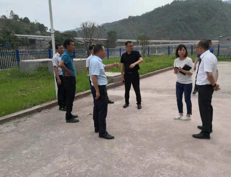 万源市委常委调研乡镇污水处理厂建设运营情况